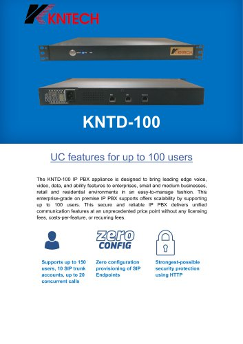 IP PBX SIP Server KNTD-100