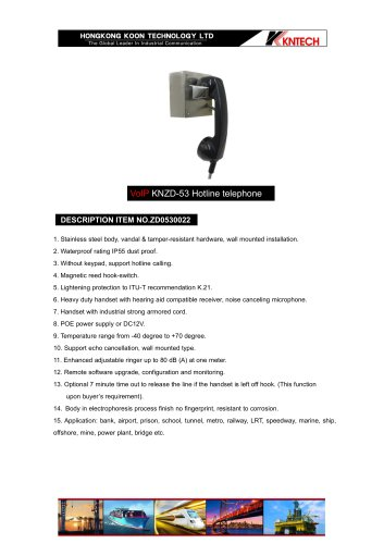 Prison telephone system KNZD-53 VoIP