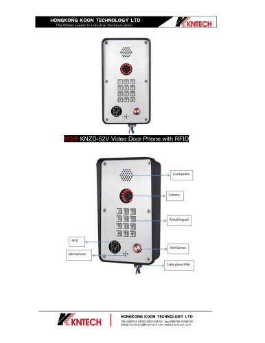 VOIP door phone support RFID card KNZD-52V