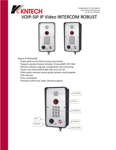 VOIP-SIP IP Video INTERCOM ROBUST
