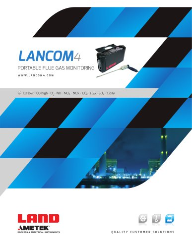 Lancom 4 portable flue gas analyser