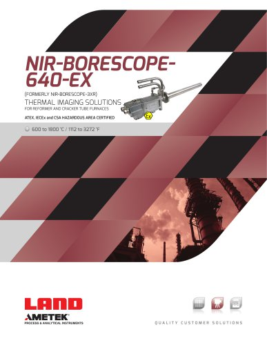 NIR-B Thermal imaging inside furnaces, melt tanks & boilers