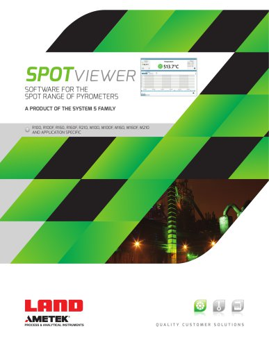 SPOTviewer - SOFTWARE FOR THE  SPOT RANGE OF PYROMETERS