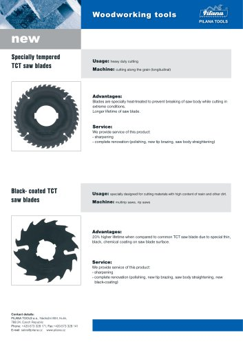 Tempered and Black-Coated TCT Blades