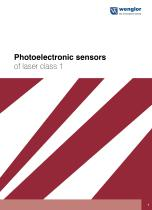 Catalog photoelectronic Sensors of laser class 1