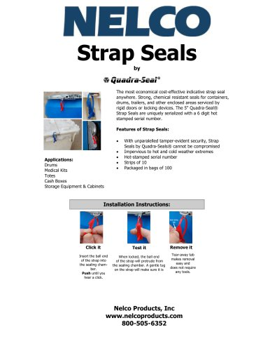 strap seals
