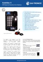 Auteldac 5 - ATEX Approved Hazardous Area Telephone - 1