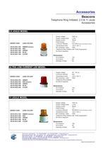 Beacons (Industrial): 2.5 & 11 Joule - Telephone Ring Initiated - 2