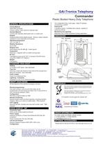 Commander - Plastic Bodied Heavy Duty Telephones - 2