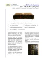 D600i Class D Audio Power Amplifier for PA/GA Systems - 1