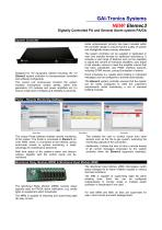 Elemec3 - digitally controlled PA and General Alarm system PA/GA - 2
