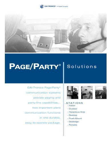 Page/Party® - paging and party-line capabilities