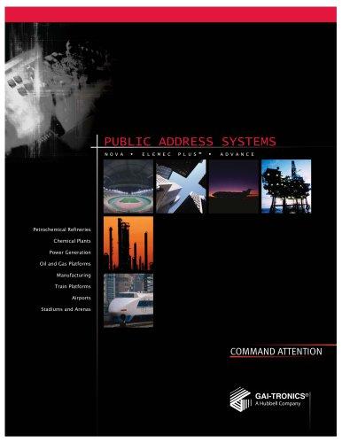 Public Address Systems PA/GA