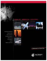 Public Address Systems PA/GA - 1