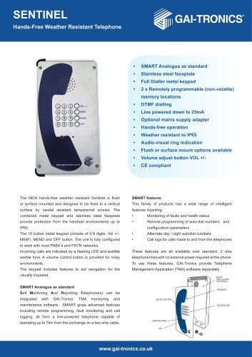 Sentinel Hands-Free Telephone