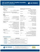 VoIP Speaker Amplifier Assemblies - 2