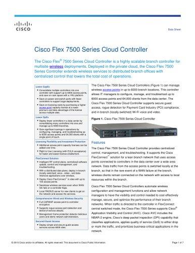 Cisco Flex 7500