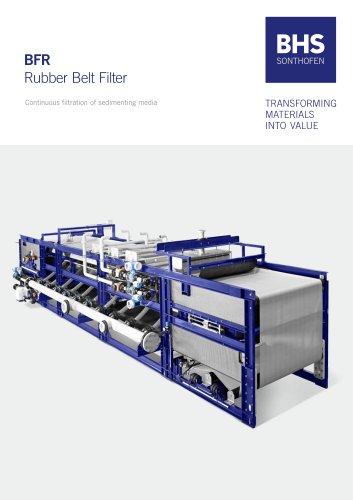 BFR Rubber Belt Filter