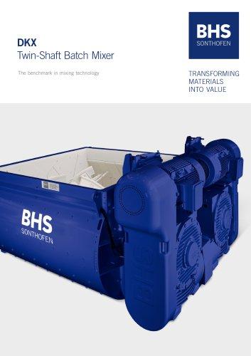 DKX Twin-Shaft Batch Mixer