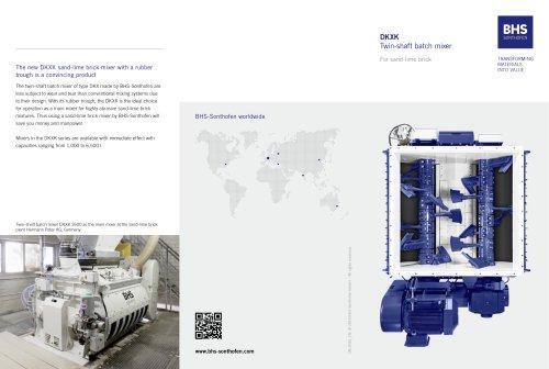 DKXK Twin-shaft batch mixer