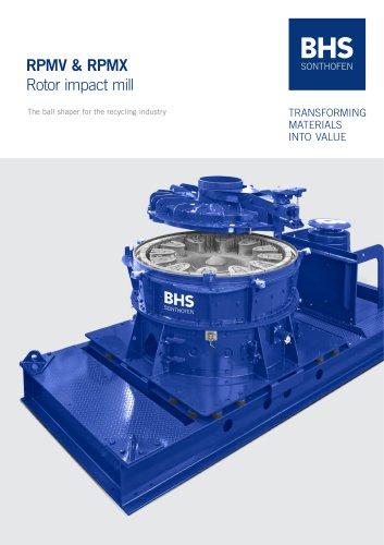 RPMV & RPMX Rotor impact mill