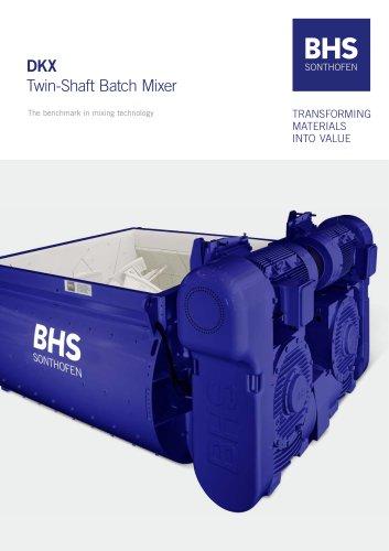 Twin-shaft batch mixer