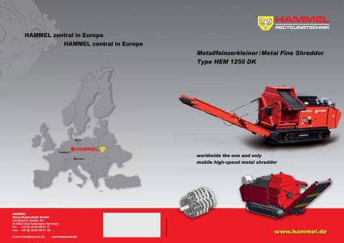 Hammel Metal Fine Shredder Hammel Recyclingtechnik Gmbh Pdf Catalogs Technical Documentation Brochure