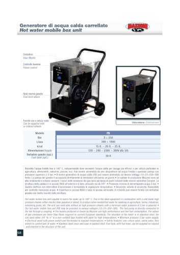 HOT WATER MOBILE BOX UNIT