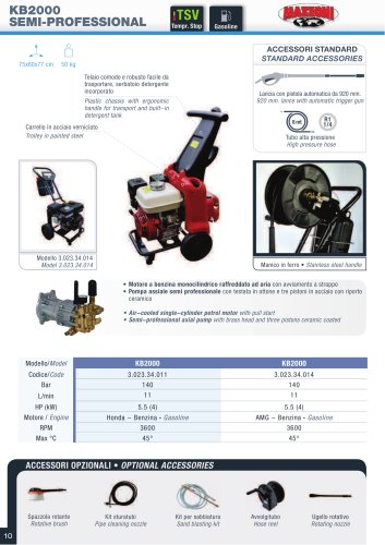 KB2000 COMMERCIAL - KB3001 PROFESSIONAL