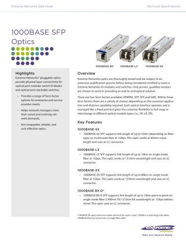 1000BASE SFP Optics
