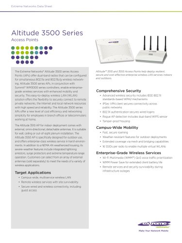 Altitude 3500 Series Access Points