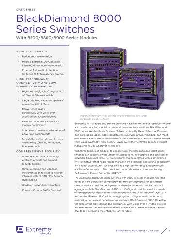 BlackDiamond 8000 Series Switches