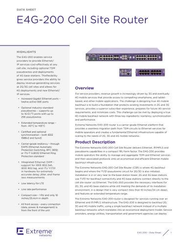 E4G-200 datasheet