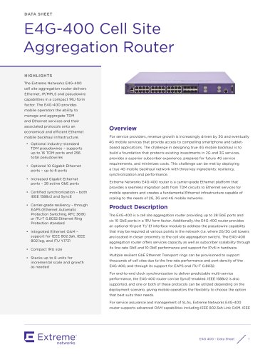 E4G-400 Cell Site Aggregation Router