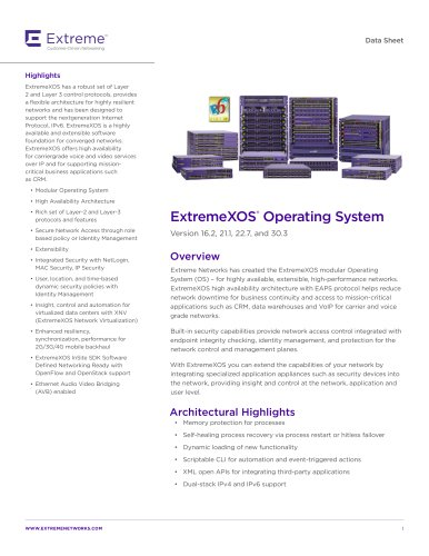 ExtremeXOS®  Operating System