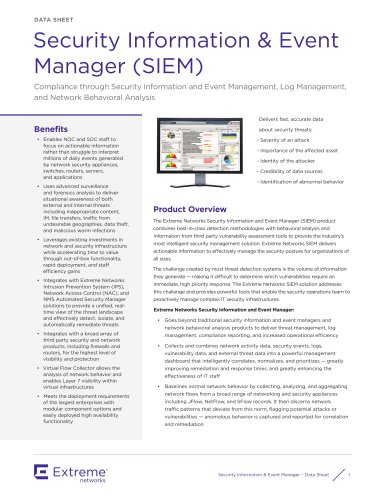 Security Information & Event Manager (SIEM)