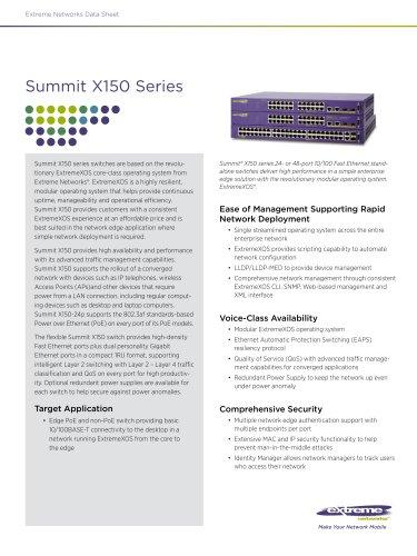 Summit X150 series