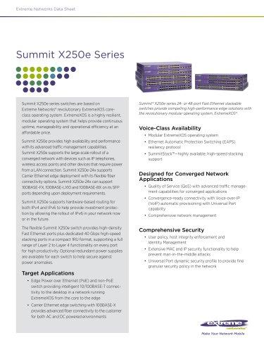 Summit X250e series