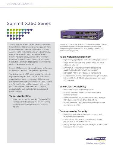 Summit X350 series