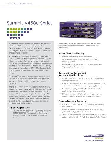 Summit X450e series