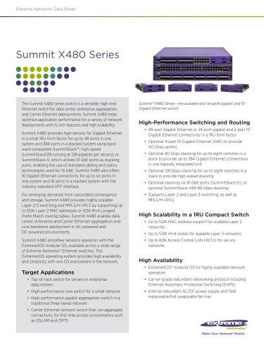 Summit X480 series