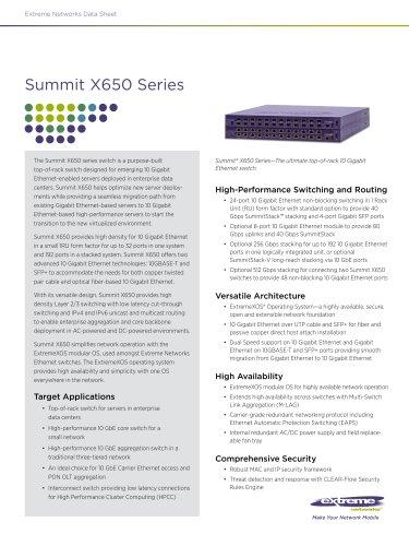 Summit X650 series