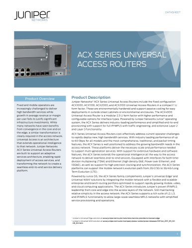ACX Series Universal Access Routers