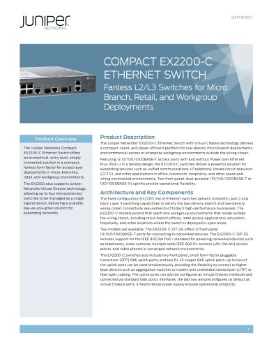 Compact EX2200-C Ethernet Switch