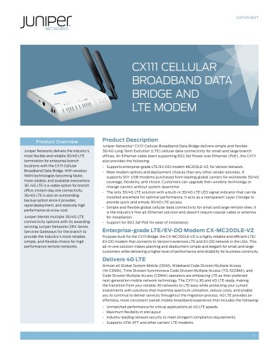 CX111 Cellular Broadband Data Bridge and LTE Modem
