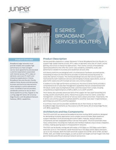 E Series Broadband Services Routers