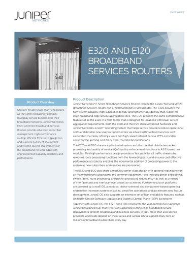 E320 and E120 Broadband Services Routers