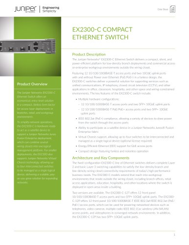 EX2300-C COMPACT ETHERNET SWITCH
