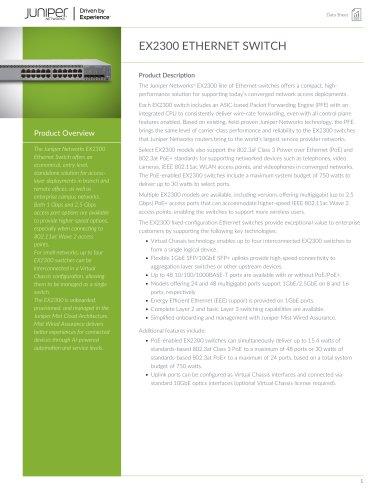 EX2300 ETHERNET SWITCH