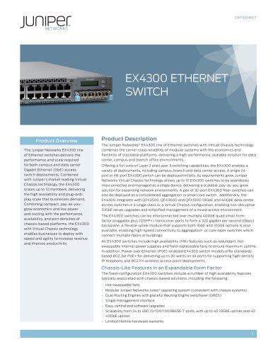 EX4300 Ethernet Switch